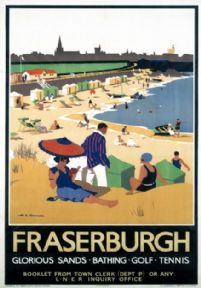 Fraserburgh, Scotland LNER Vintage Railway Travel Poster Print, Scottish Art
